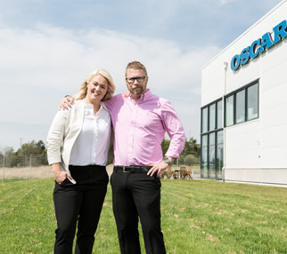 Linda Ericson, Vice President and Marketing Manager at Oscar Medtec & Fredric Ericson, CEO of Oscar Medtec